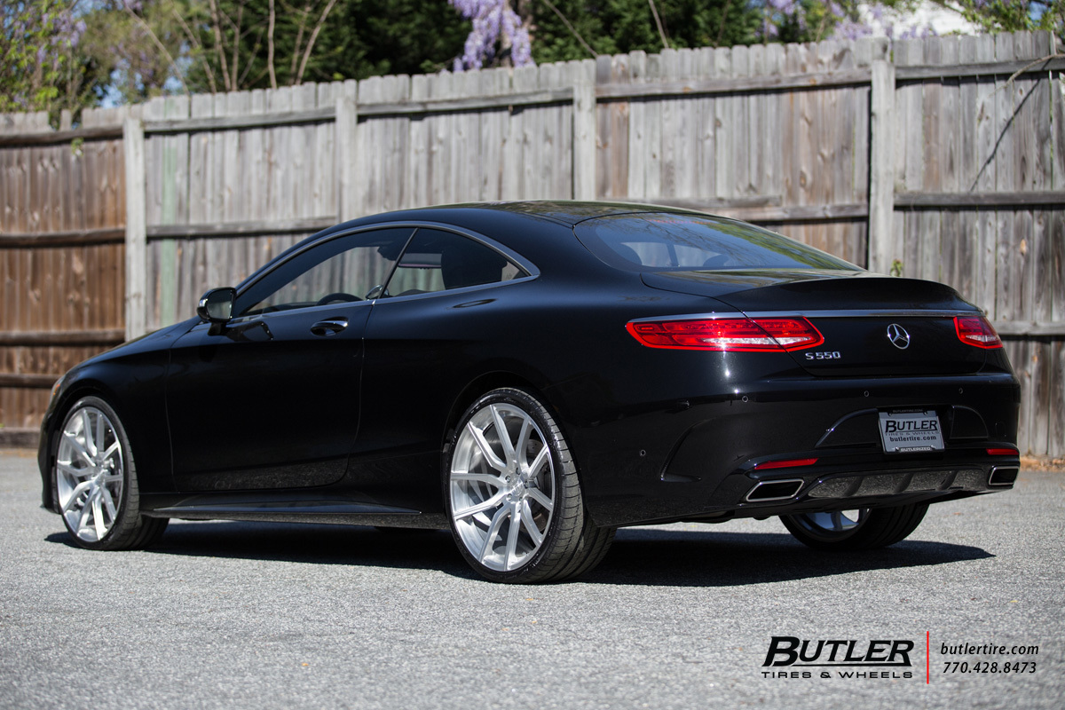 Mercedes S-Class Coupe with 22in Lexani M-111 Wheels