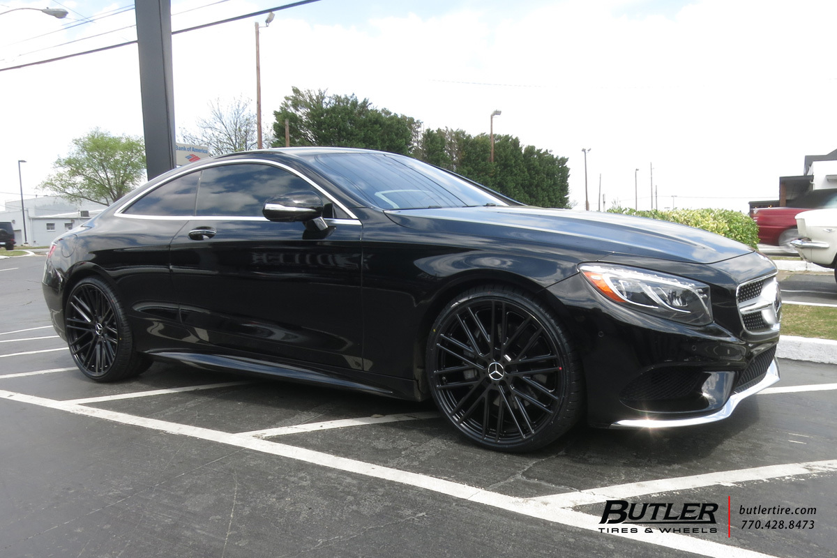 Mercedes S-Class Coupe with 22in Mandrus Masche Wheels