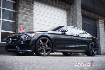 Mercedes S-Class Coupe with 22in Savini BM11M Wheels