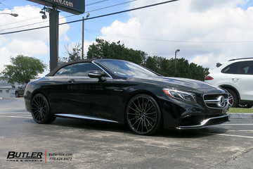 Mercedes S-Class Coupe with 22in Savini BM16 Wheels