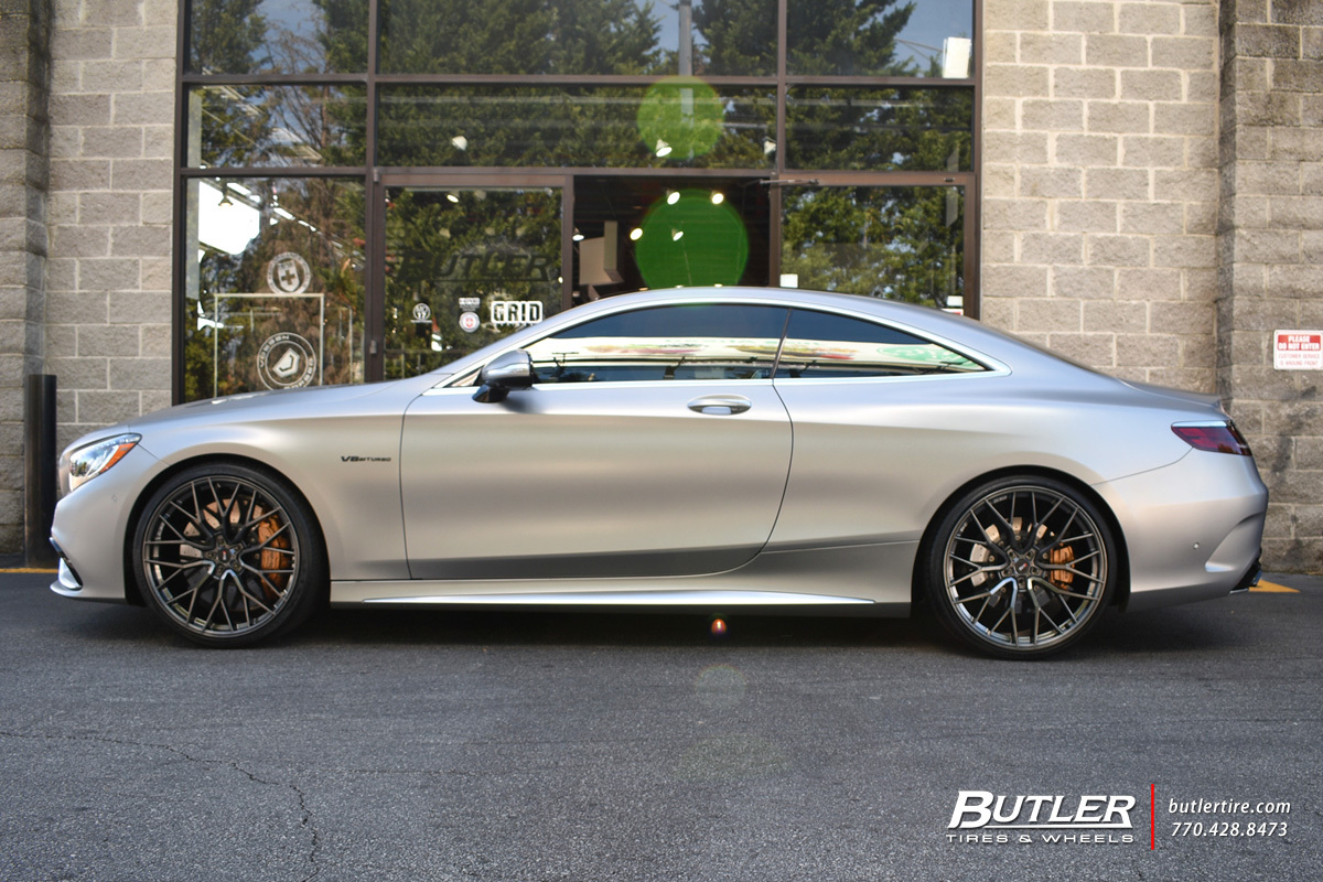 Mercedes S-Class Coupe with 22in Savini SV-F2 Wheels