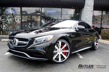 Mercedes S-Class Coupe with 22in Savini SV28 Wheels