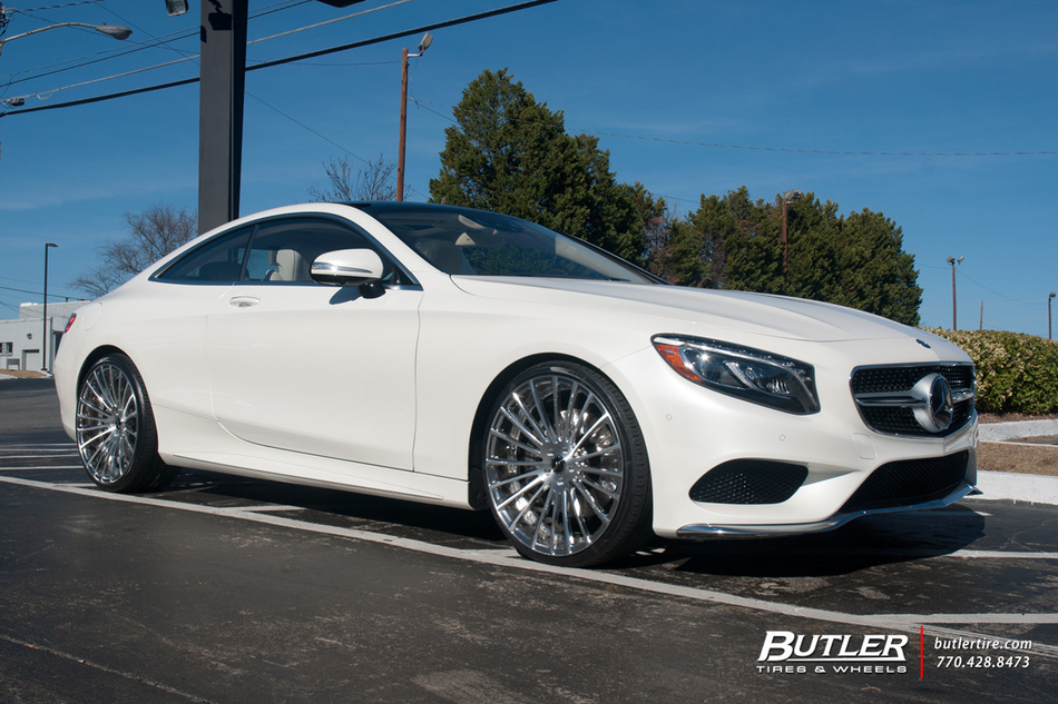 mercedes s class coupe with 22in savini sv61d wheels. Black Bedroom Furniture Sets. Home Design Ideas