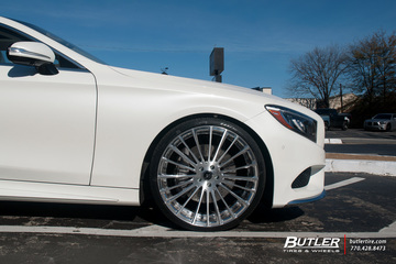 Mercedes S-Class Coupe with 22in Savini SV61d Wheels