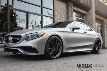 Mercedes S-Class Coupe with 22in Savini SV66-L Wheels