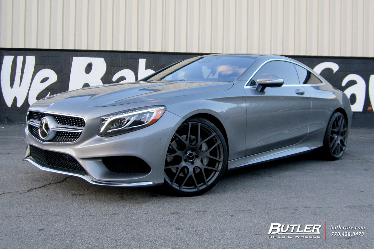 Mercedes S-Class Coupe with 22in TSW Nurburgring Wheels