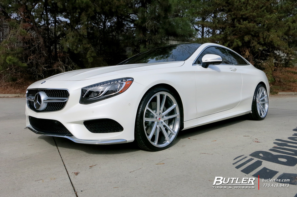 Mercedes S Class Coupe With In Vossen Cg Wheels Large on Dodge Truck Struts
