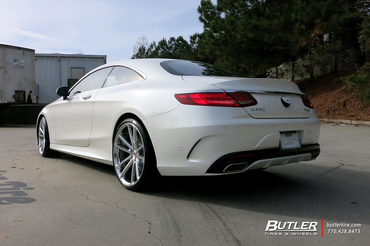 Mercedes S-Class Coupe with 22in Vossen CG-203 Wheels