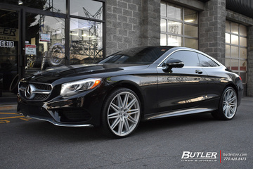 Mercedes S-Class Coupe with 22in Vossen CV10 Wheels