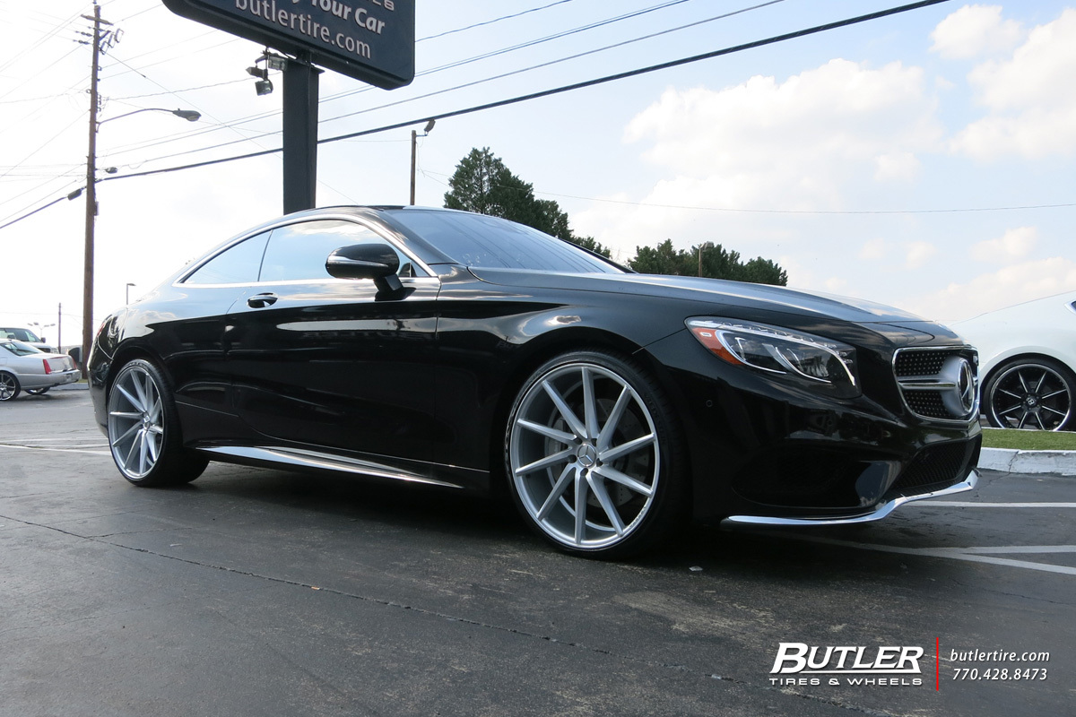 mercedes s class coupe with 22in vossen cvt wheels. Black Bedroom Furniture Sets. Home Design Ideas