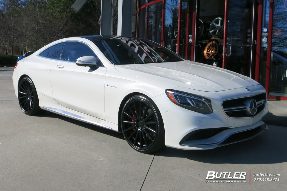 mercedes s class coupe with 22in vossen vfs2 wheels. Black Bedroom Furniture Sets. Home Design Ideas