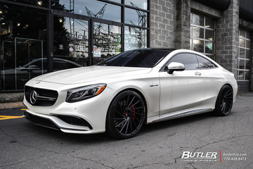 Mercedes S-Class Coupe with 22in Vossen VPS-305T Wheels