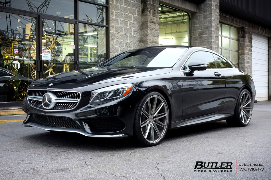 Mercedes s class coupe with 22in vossen vps 307 wheels for Mercedes benz south atlanta service
