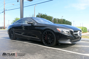 Mercedes S-Class Coupe with 22in XO London Wheels