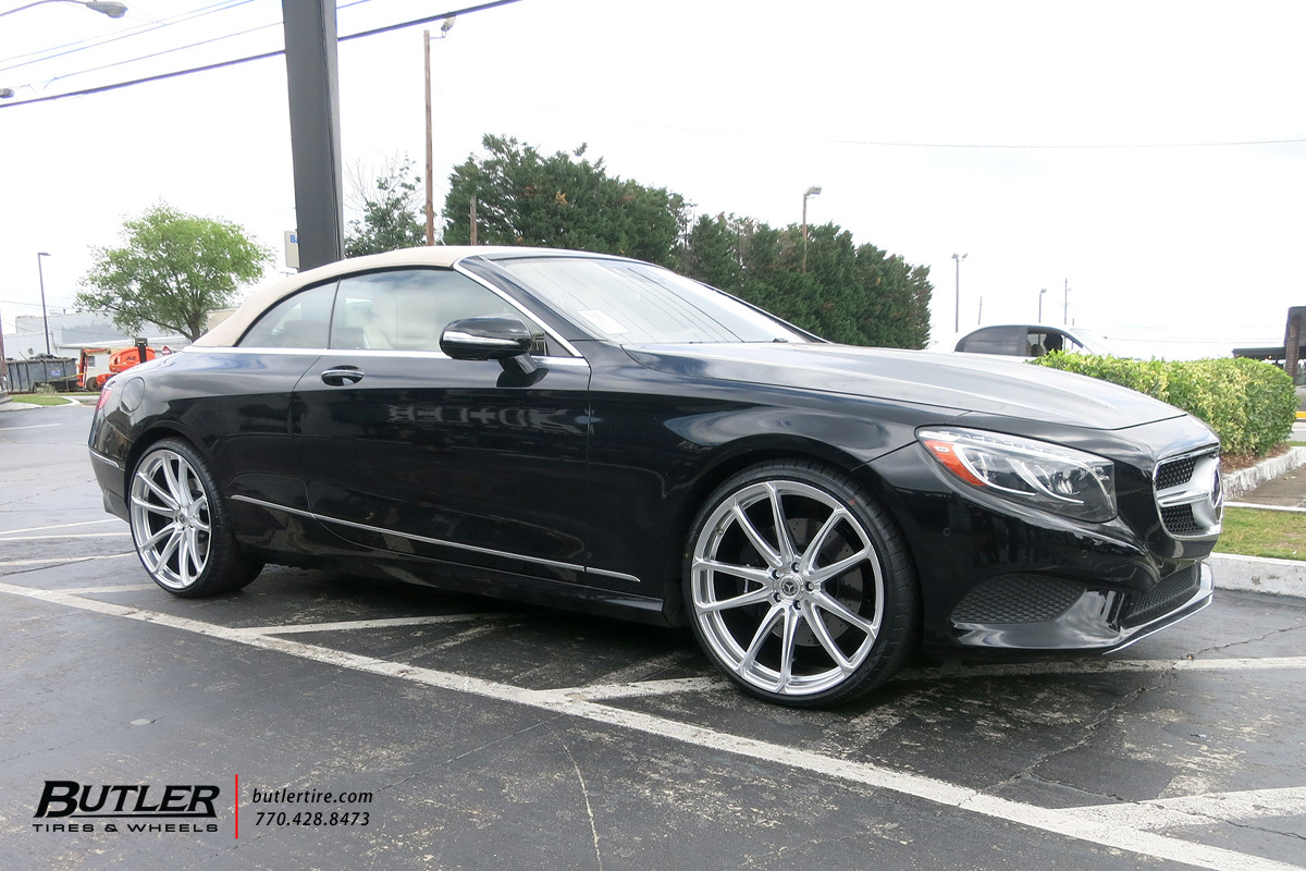 Mercedes S-Class Coupe with 22in XO Madrid Wheels