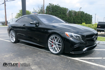 Mercedes S-Class Coupe with 22in XO Moscow Wheels