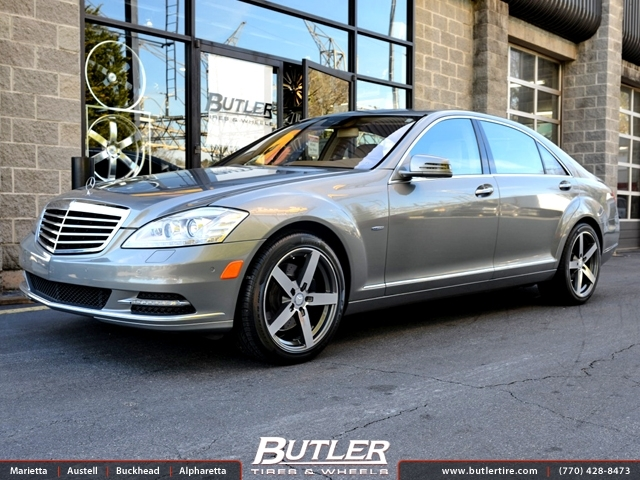 Mercedes S-Class with 19in Mandrus Arrow Wheels