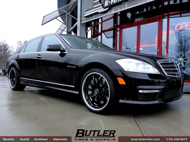 Mercedes S-Class with 20in Mandrus Velo Wheels