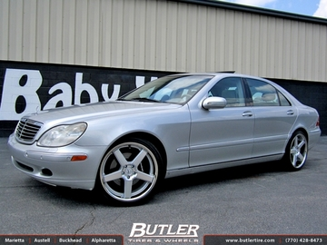 Mercedes S-Class with 20in Niche Nurburg Wheels