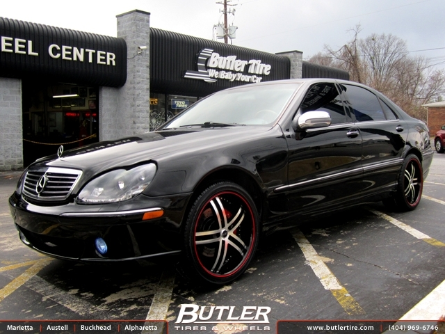 Mercedes s class with 20in status knight wheels for Mercedes benz tire inflator