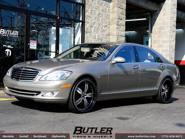 Mercedes S-Class with 22in Autocouture Malice 5 Wheels