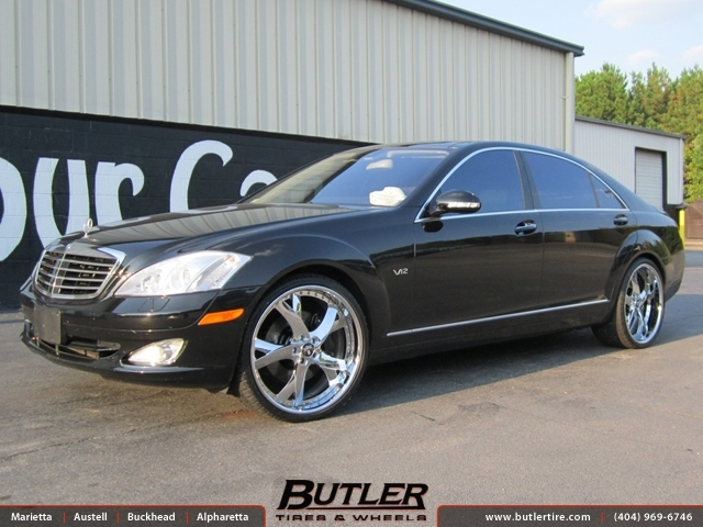 Mercedes S-Class with 22in DUB X160 Wheels