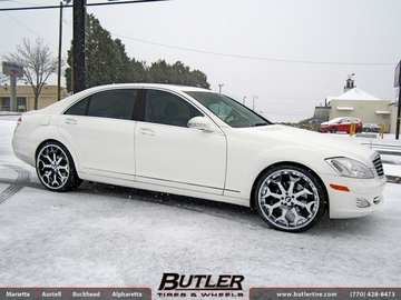Mercedes S-Class with 22in Forgiato Capolavaro Wheels