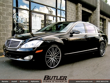 Mercedes S-Class with 22in Lexani CVX 44 Wheels