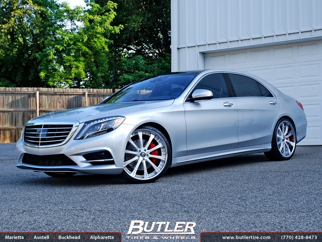 Mercedes s class with 22in lexani lf707 wheels exclusively for Mercedes benz tire inflator