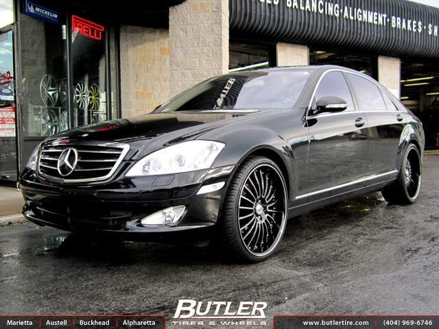 Mercedes s class with 22in lexani lss11 wheels exclusively for Mercedes benz tire inflator
