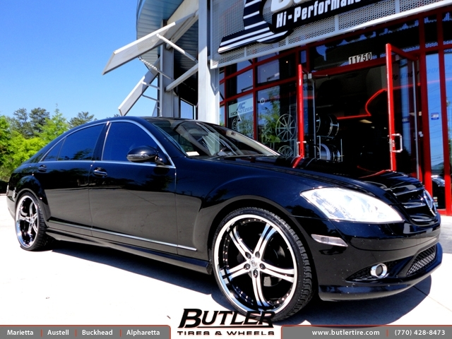 Mercedes S-Class with 22in Lexani LSS5 Wheels