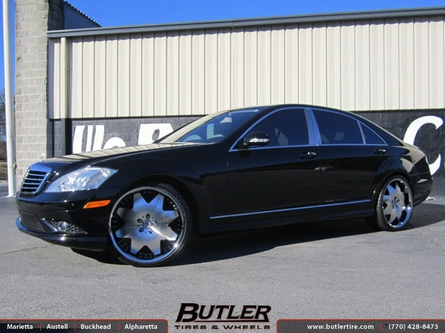 Mercedes S-Class with 22in Lexani LX2 Wheels