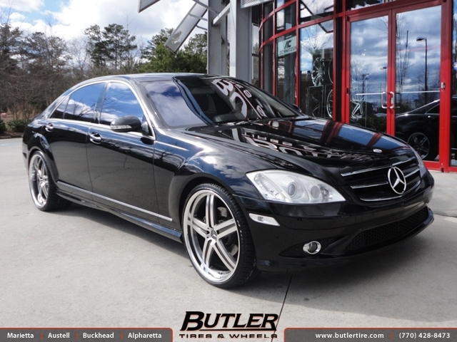 mercedes s class with 22in mandrus mannheim wheels exclusively from butler tires and wheels in. Black Bedroom Furniture Sets. Home Design Ideas