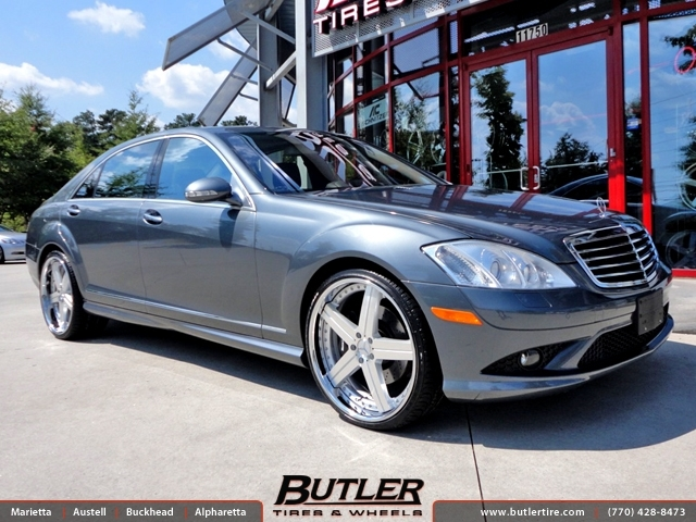 Mercedes S Class With 22in Mandrus Stuttgart Wheels