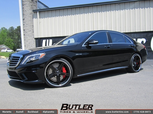 Mercedes S-Class with 22in TSW Mirabeau Wheels