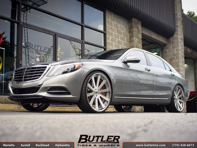 Mercedes S-Class with 24in Forgiato Concavo Wheels