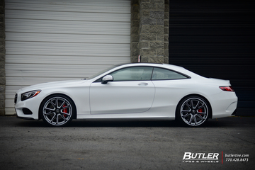 Mercedes S-Class Coupe with 22 Forgiato F2 19 Wheels