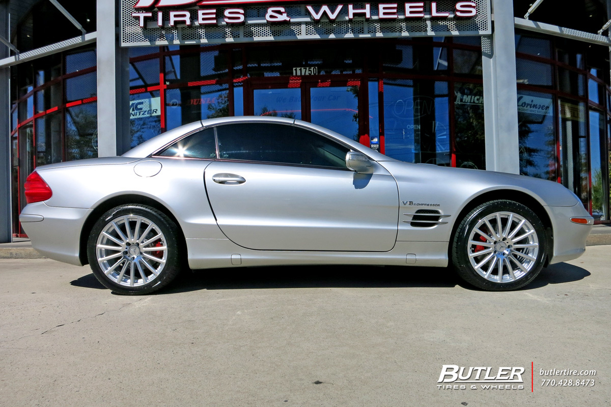 Mercedes SL-Class with 18in Mandrus Rotec Wheels
