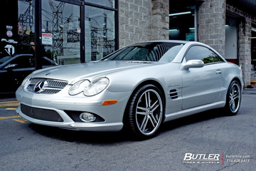 Mercedes SL-Class with 19in Mandrus Simplex Wheels