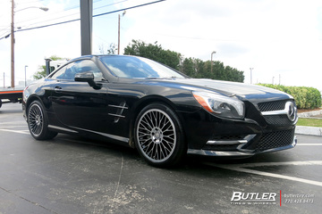Mercedes SL-Class with 19in TSW Casino Wheels