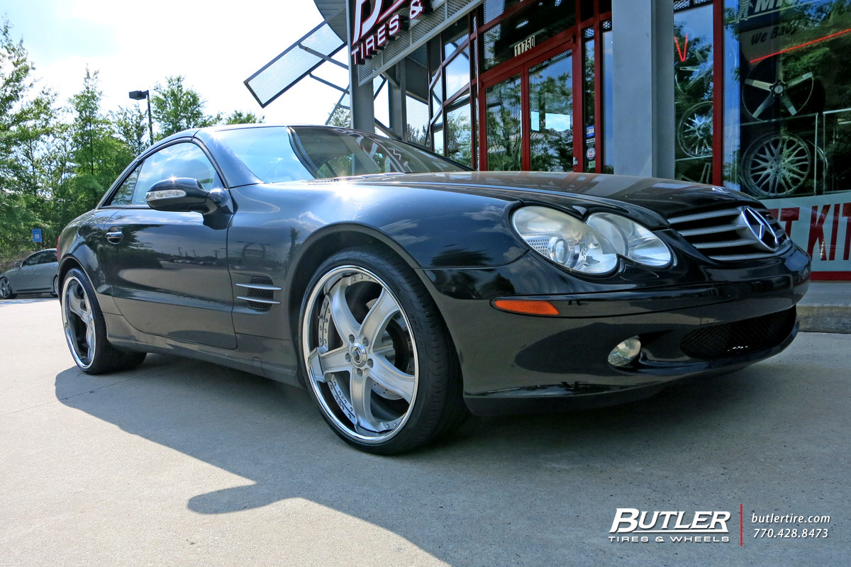Mercedes SL-Class with 20in Asanti AF165 Wheels