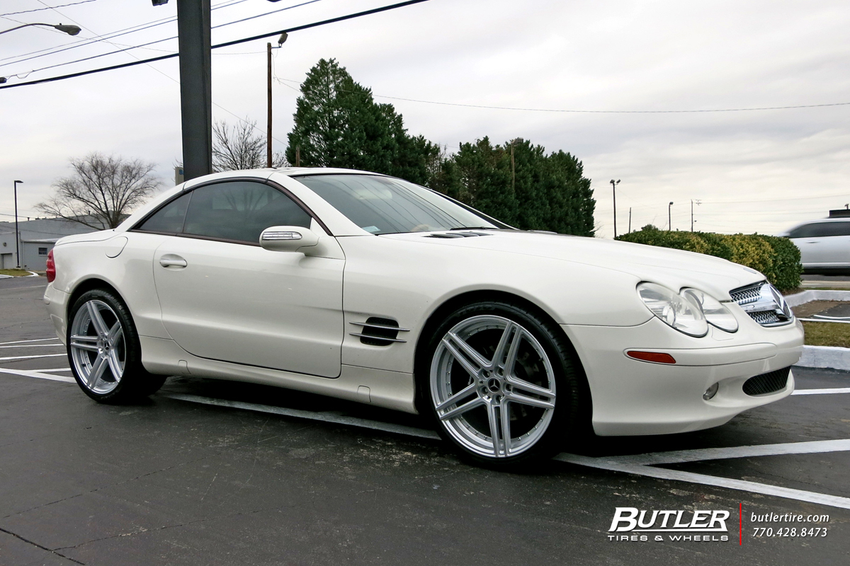 Mercedes SL-Class with 20in Blaque Diamond BD6 Wheels