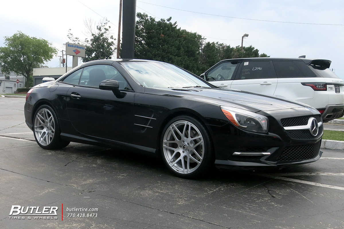 Mercedes SL-Class with 20in Forgiato Pinzette-M Wheels