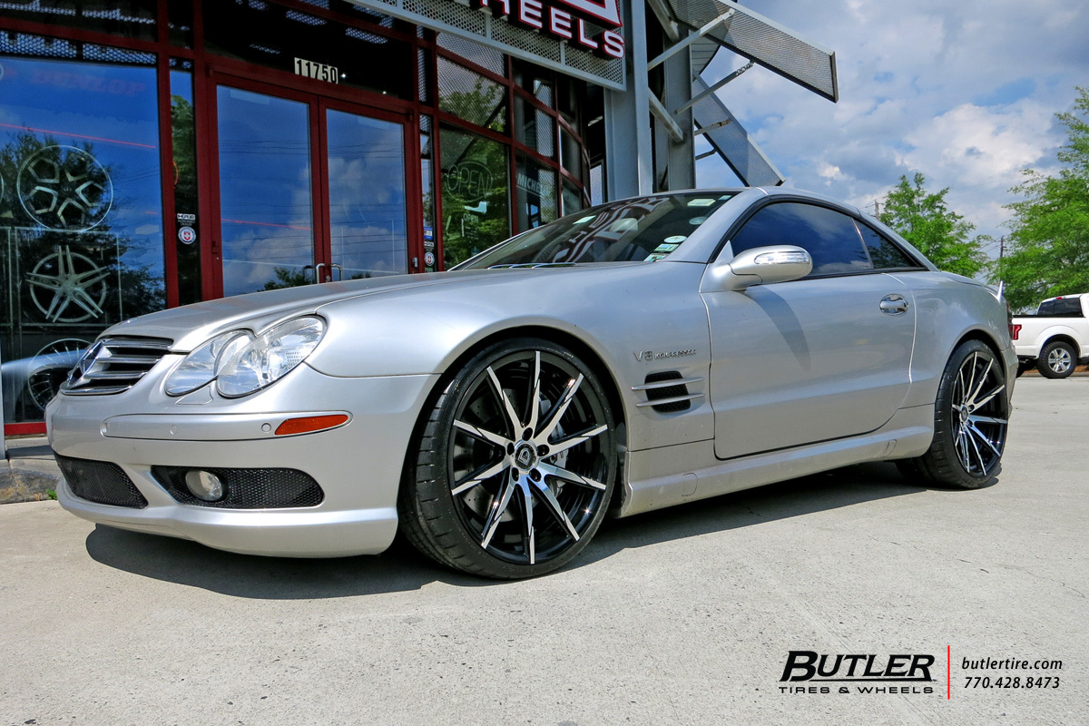 Mercedes SL-Class with 20in Lexani CSS15 Wheels