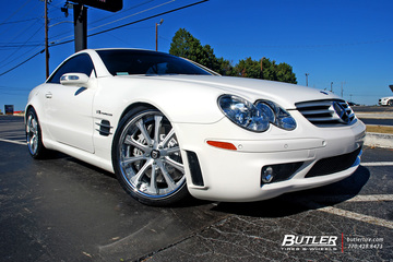 Mercedes SL-Class with 20in Lexani LF-707 Wheels