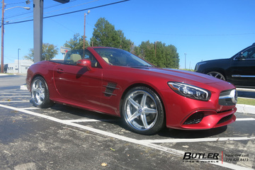 Mercedes SL-Class with 20in Lexani LF705 Wheels