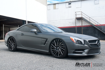 Mercedes SL-Class with 20in Lexani Wraith Wheels