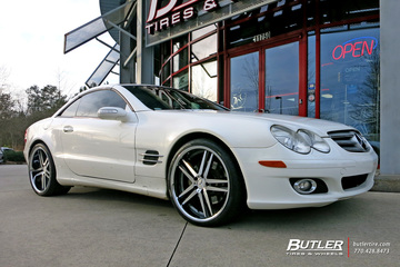 Mercedes SL-Class with 20in Mandrus Simplex Wheels