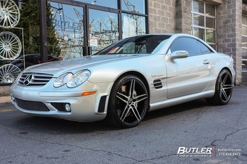 Mercedes SL-Class with 20in Niche Turin Wheels