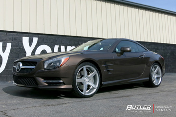 Mercedes SL-Class with 20in Savini BM11 Wheels